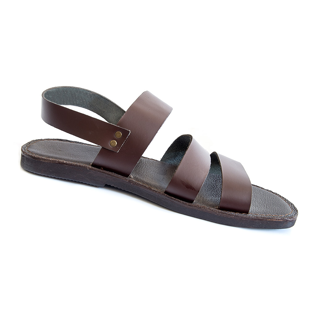 Handmade men's sandals METEL are made of leather.